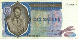 10 Zaïres ZAÏRE  1975 P.23a TTB+