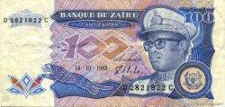 100 Zaïres ZAÏRE  1988 P.33a TTB