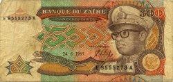500 Zaïres ZAÏRE  1989 P.34a B à TB
