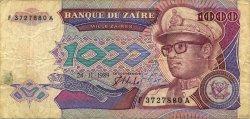 1000 Zaïres ZAÏRE  1989 P.35a B