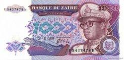 1000 Zaïres ZAÏRE  1989 P.35a SPL