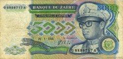 5000 Zaïres ZAÏRE  1988 P.37a B
