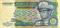 5000 Zaïres ZAÏRE  1988 P.37b TTB