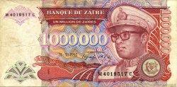 1000000 Zaïres ZAÏRE  1992 P.44 TB+