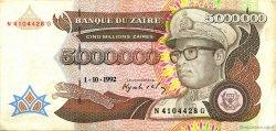 5000000 Zaïres ZAÏRE  1992 P.46a TTB