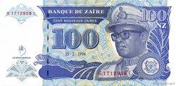 100 Nouveaux Zaïres ZAÏRE  1994 P.60 NEUF