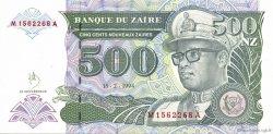 500 Nouveaux Zaïres ZAÏRE  1994 P.63 NEUF