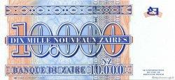 10000 Nouveaux Zaïres ZAÏRE  1995 P.70 pr.NEUF