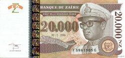 20000 Nouveaux Zaïres ZAÏRE  1996 P.72 SUP