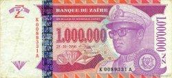1000000 Nouveaux Zaïres ZAÏRE  1996 P.79a pr.TTB