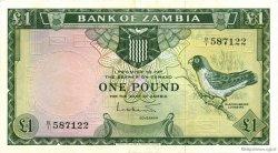 1 pound ZAMBIE  1964 P.02a SUP