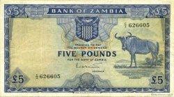 5 pounds ZAMBIE  1964 P.03a pr.TTB