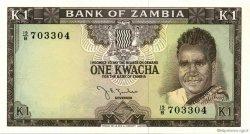 1 Kwacha ZAMBIE  1968 P.05a NEUF