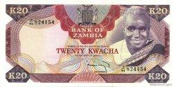 20 Kwacha ZAMBIE  1974 P.18a pr.NEUF