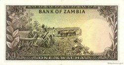 1 Kwacha ZAMBIE  1976 P.19a SUP