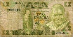 2 Kwacha ZAMBIE  1980 P.24b TB