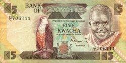5 Kwacha ZAMBIE  1980 P.25b TTB