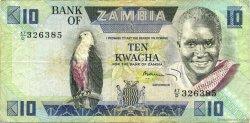 10 Kwacha ZAMBIE  1980 P.26c pr.TTB