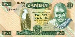 20 Kwacha ZAMBIE  1980 P.27d SUP