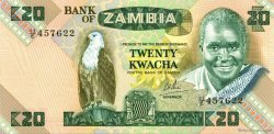 20 Kwacha ZAMBIE  1980 P.27d NEUF