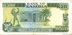 20 Kwacha ZAMBIE  1989 P.32b TTB