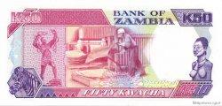 50 Kwacha ZAMBIE  1989 P.33a pr.NEUF