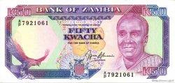 50 Kwacha ZAMBIE  1989 P.33b NEUF