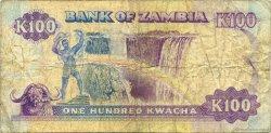 100 Kwacha ZAMBIE  1991 P.34a TB