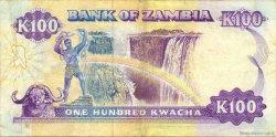 100 Kwacha ZAMBIE  1991 P.34a TTB