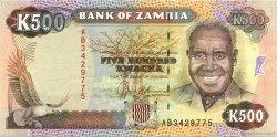 500 Kwacha ZAMBIE  1991 P.35a SUP