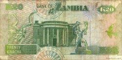 20 Kwacha ZAMBIE  1992 P.36a TTB