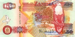 50 Kwacha ZAMBIE  2003 P.37d SPL