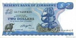 2 Dollars ZIMBABWE  1980 P.01a SUP
