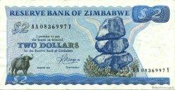 2 Dollars ZIMBABWE  1983 P.01b SUP