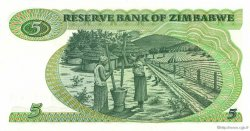 5 Dollars ZIMBABWE  1982 P.02b NEUF