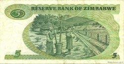 5 Dollars ZIMBABWE  1983 P.02c TTB