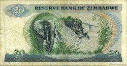 20 Dollars ZIMBABWE  1983 P.04c TB+