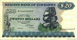 20 Dollars ZIMBABWE  1983 P.04c TTB