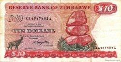 10 Dollars ZIMBABWE  1980 P.03a TTB