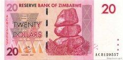 20 Dollars ZIMBABWE  2007 P.68