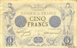 5 Francs NOIR FRANCE  1873 F.01.16 TTB