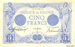 5 Francs BLEU FRANCE  1912 F.02.12 SUP+