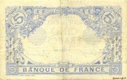 5 Francs BLEU FRANCE  1915 F.02.27 TTB