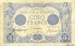 5 Francs BLEU FRANCE  1915 F.02.33 TB à TTB