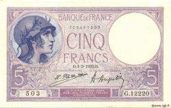 5 Francs VIOLET FRANCE  1923 F.03.07 SUP+