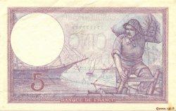 5 Francs VIOLET FRANCE  1927 F.03.11 TTB+