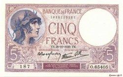 5 Francs VIOLET modifié FRANCE  1939 F.04.13 SPL