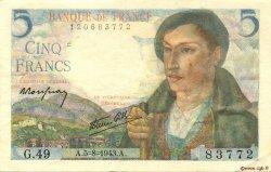 5 Francs BERGER FRANCE  1943 F.05.03 TTB+