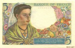 5 Francs BERGER FRANCE  1943 F.05.03 SUP+