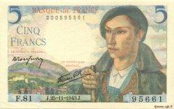 5 Francs BERGER FRANCE  1943 F.05.04 SUP
